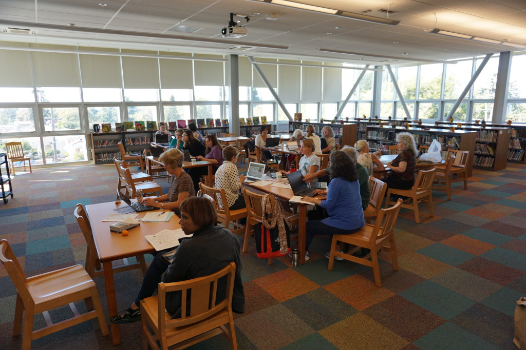 School librarians enjoy Professional Development Day in BUSD's newest library.