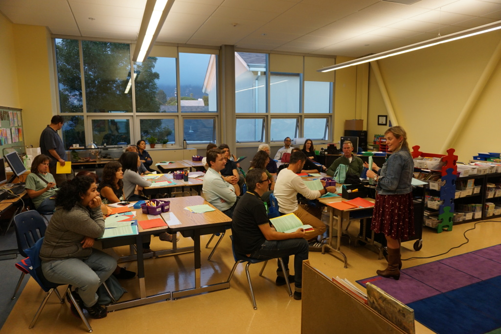 Parents were welcomed into the new classrooms at Back to School Night.
