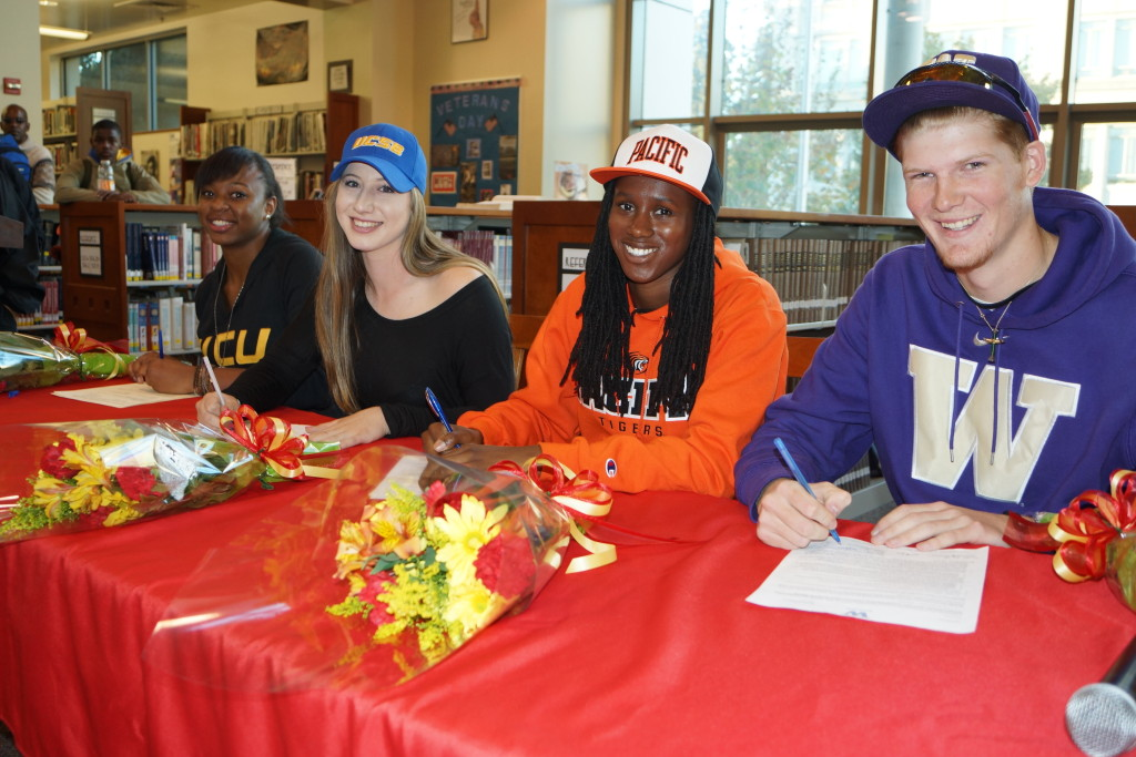 Four BHS athletes participated in National Signing Day for Division I Universities