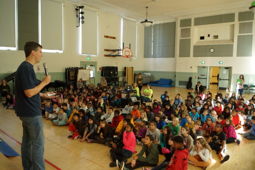 Diary of a Wimpy Kid Author Visits Malcolm X