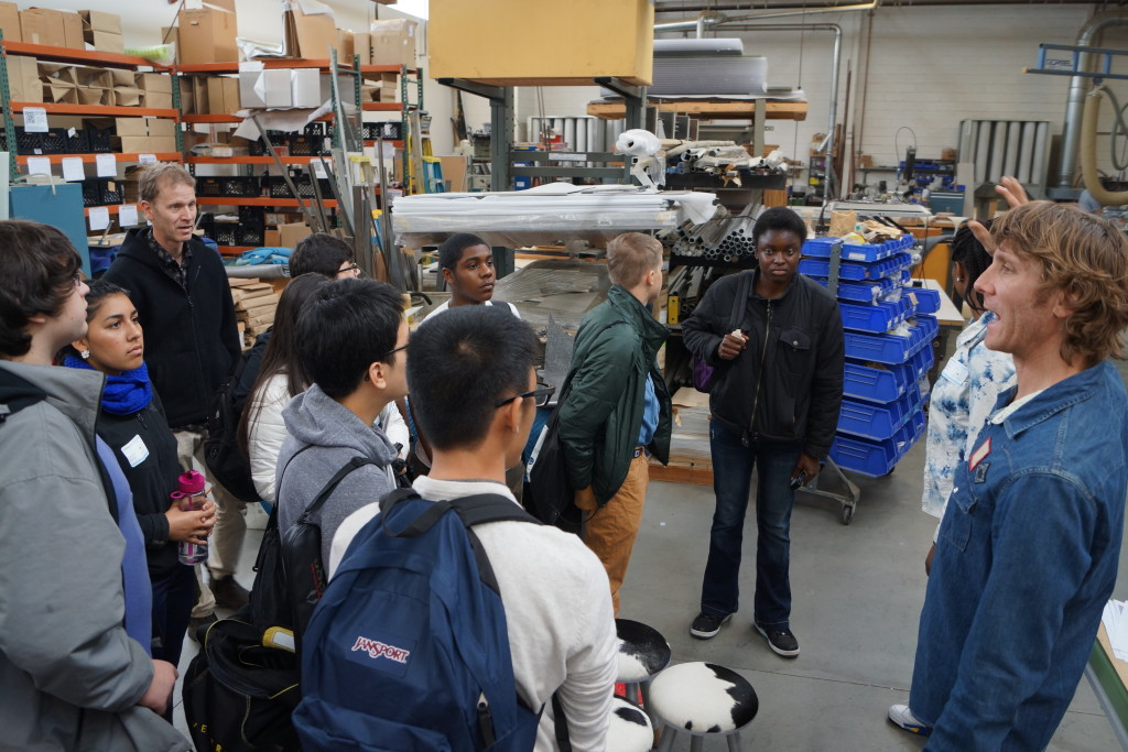 Students visited eight local companies including Swerveco and Bayer Healthcare