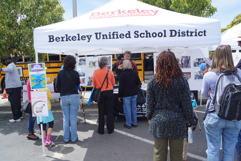 Families and Community Members Visited BUSD's Booth and School Bus Throughout the Day