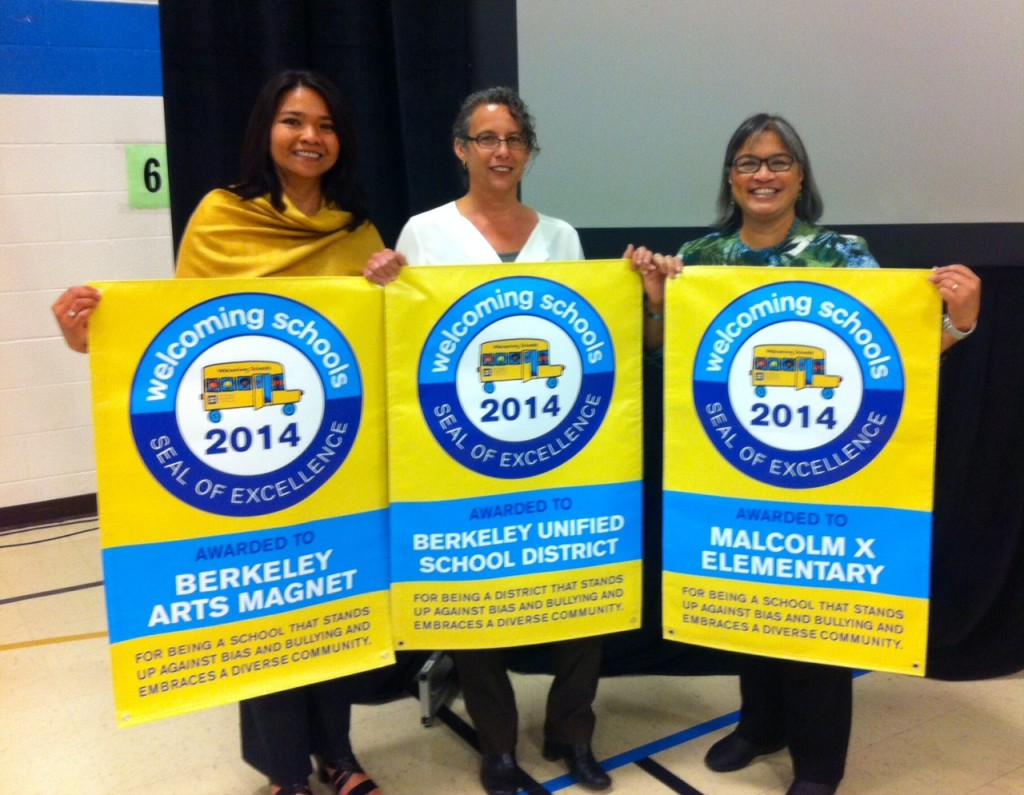 Berkeley Arts Magnet and Malcolm X Elementary Schools and BUSD Awarded Welcoming Schools Seal