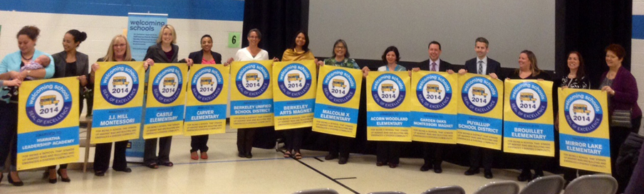Ten schools and Two districts were Awarded the Welcoming Schools Seal