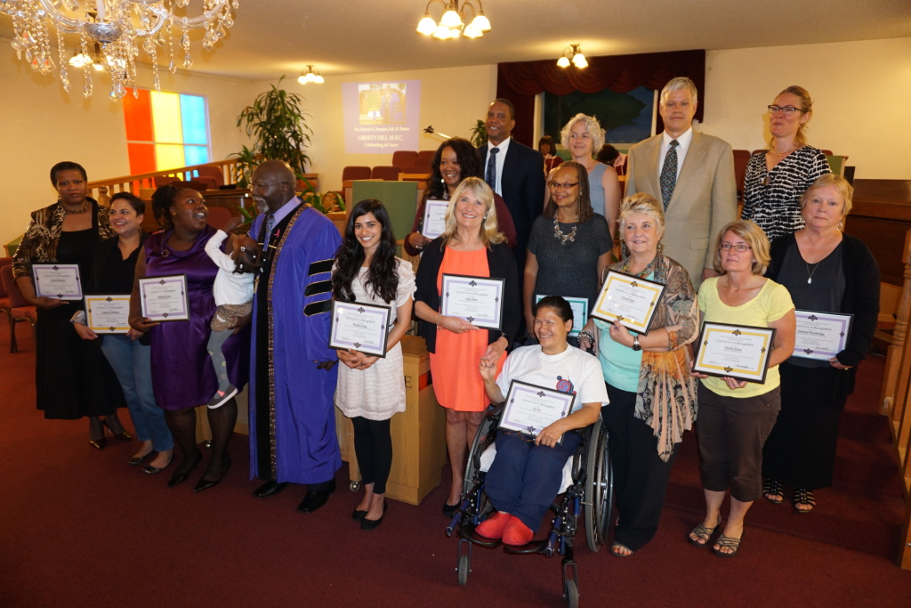 BUSD 2014 Outstanding Educators recognized at Liberty Hill's 11 a.m. service