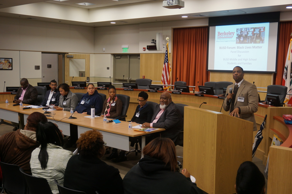 Black Lives Matter Forum facilitated by Superintendent Donald Evans
