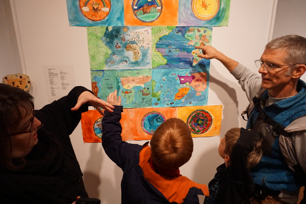 Young artists explain their work: BUSD at Berkeley Art Center