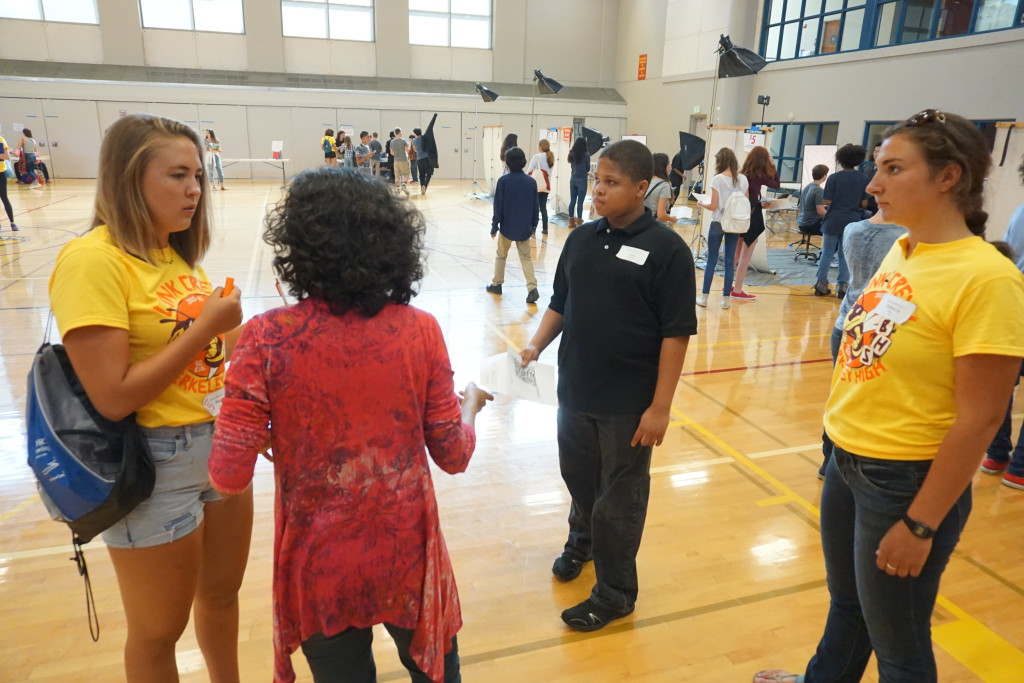 The Link Crew have also been called the Banana Crew , visible because of  their yellow shirts.