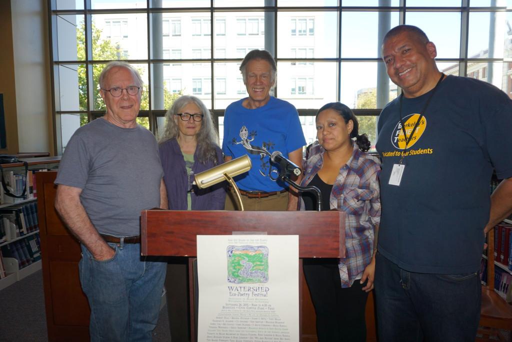 BHS Teacher Alan Miller (far right) brings Berkeley's Watershed Poetry Festival to Berkeley High