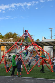 New climbing structure at Rosa Parks Elementary