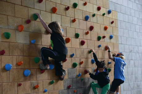 And a new climbing wall at Rosa Parks Elementary!