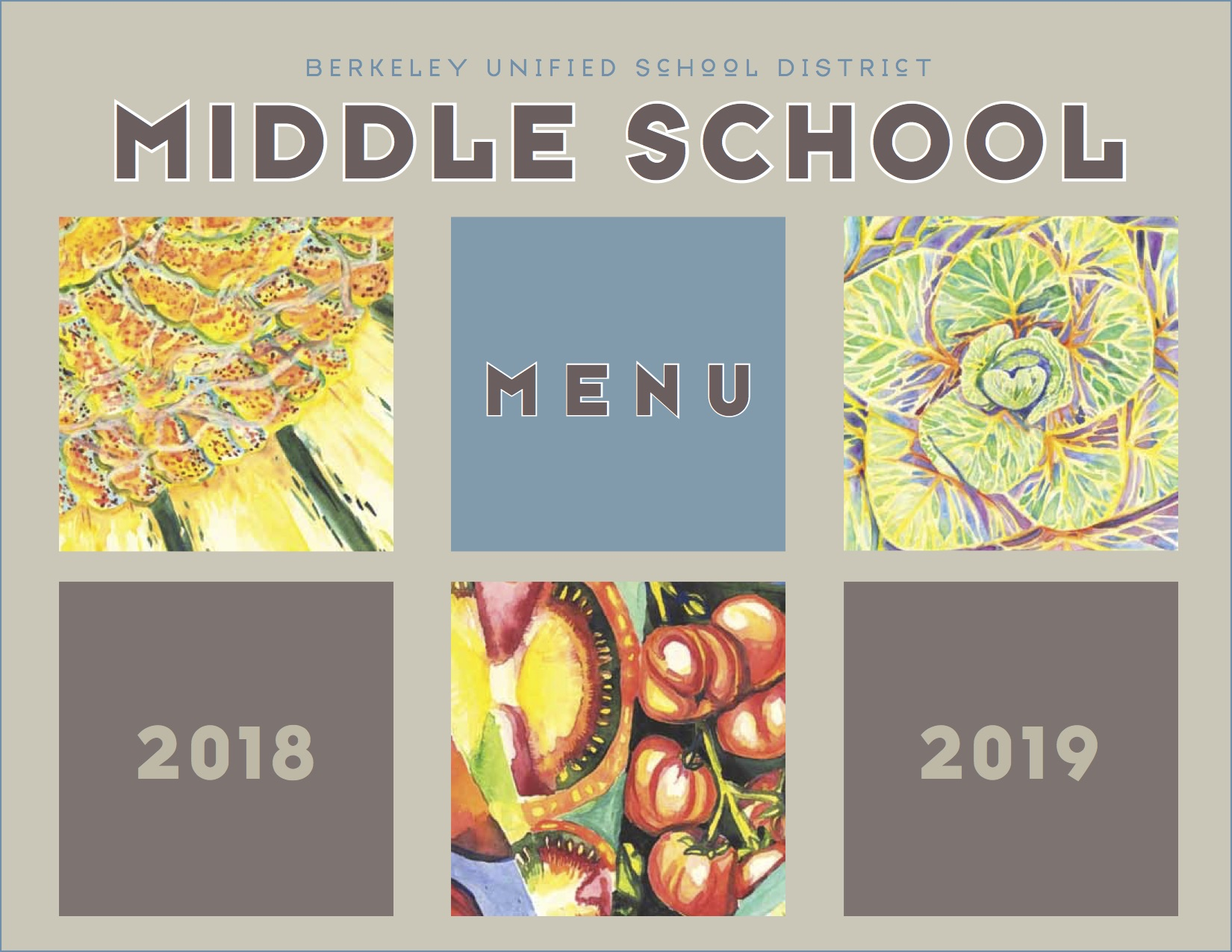 Middle School Lunch Menu