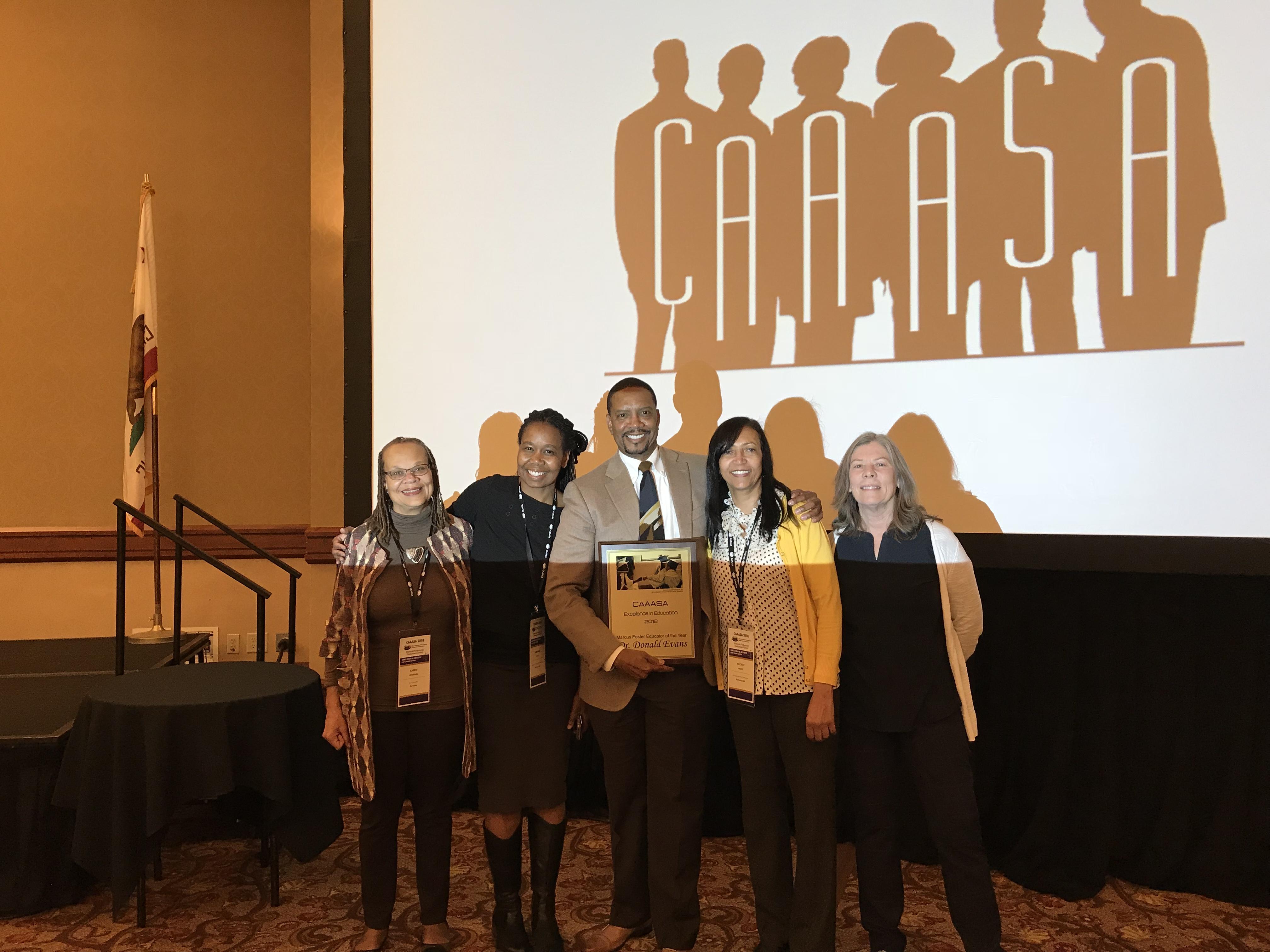 Donald Evans at CAAASA Awards