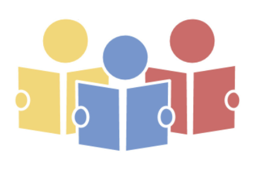 LCAP logo - icons of 3 people reading books