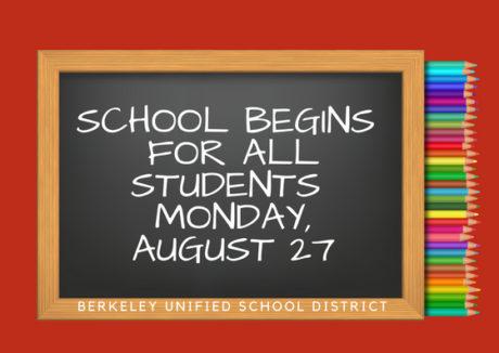 Berkeley Academic Calendar.First Day Of School Monday August 27 Berkeley Unified School