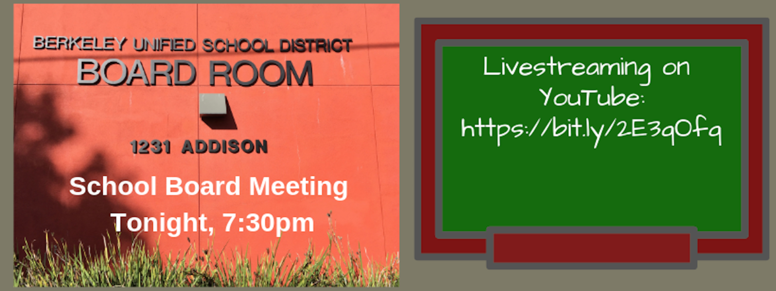 Live Streaming for School Board Meeting Tonight, 7:30 P.M., Feb. 20