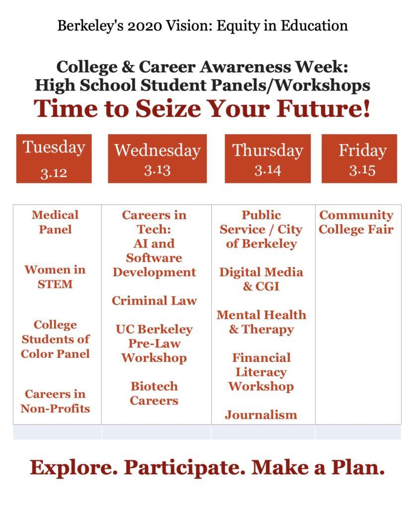 College & Career Awareness Week 2019: March 11-15 | Berkeley