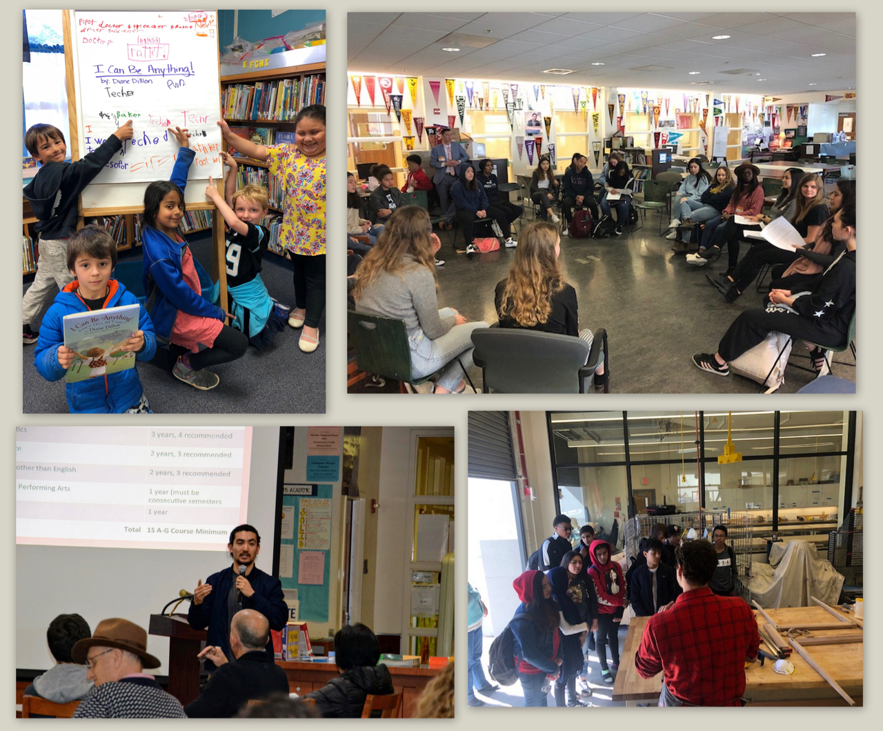 Collage of photos from the College and Career Awareness Week