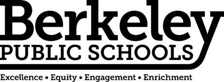 This is the logo for Berkeley Public Schools. It states: Berkeley Public Schools: Excellence, Equity, Engagement, Enrichment