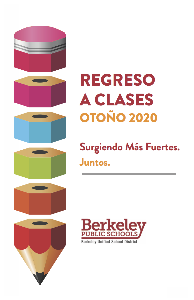 This is the Spanish LanguThis is the Spanish language cover of the Back To School Fall 2020 Emerging Stronger Together Publication It reads: Regreso a Clases Otoño 2020