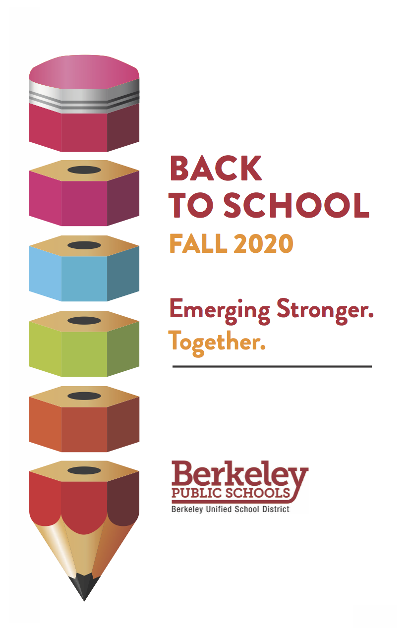 This is the cover of the Back To School Fall 2020 Emerging Stronger Together Publication