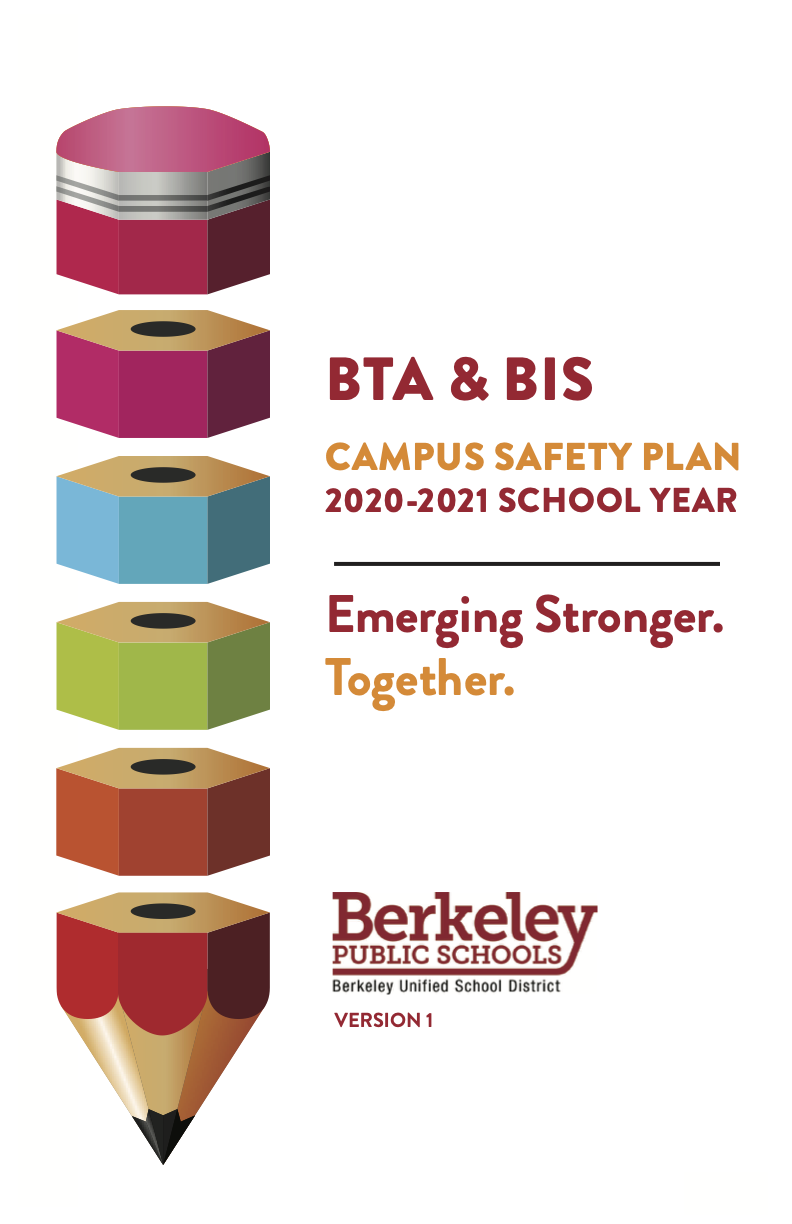 This is the cover of the BTA & BIS Campus Safety Plan 2020-21