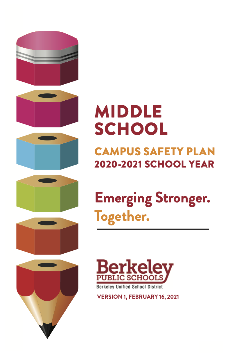 Click here for a PDF of the middle school school campus safety plan 2020-21 School Year
